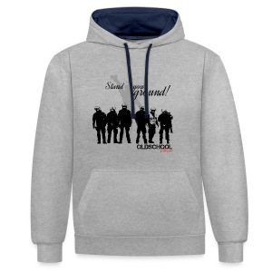 OLDSCHOOL Classic Stand your ground! - Kontrast-Hoodie