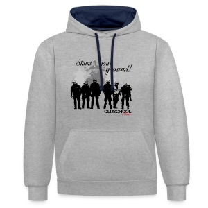 OLDSCHOOL Classic Stand your ground Biker - Kontrast-Hoodie