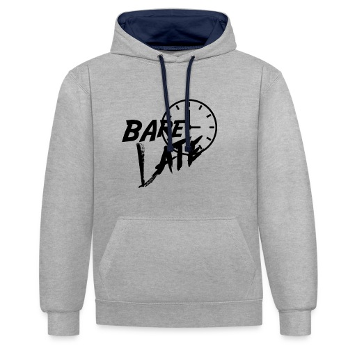 Bare Late Black - Contrast Colour Hoodie