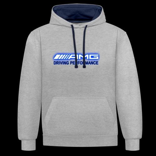 AMG Blue-Edition NEON - Kontrast-Hoodie