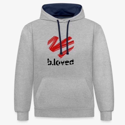 b-loved - Bluza z kapturem z kontrastowymi elementami