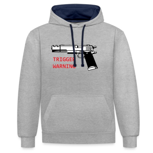 Anti-Snowflake Trigger Warning Collection - Contrast Colour Hoodie