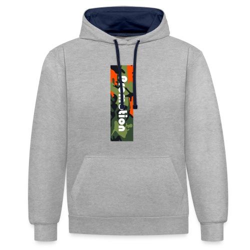 Promotion Box Logo - Kontrast-Hoodie