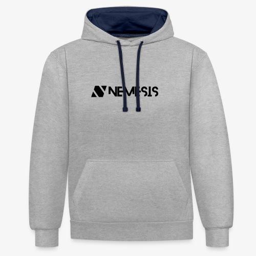 Nemesis Black Logo - Contrast Colour Hoodie