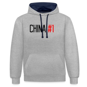China #1 (Black) - Contrast Colour Hoodie