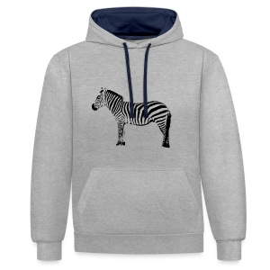 Basic T-Shirt Woman | I am a freaking ZEBRA - Contrast Colour Hoodie