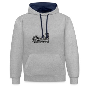 Persian Poem by Saeed - Contrast Colour Hoodie
