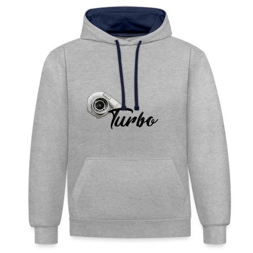 Turbo - Kontrast-Hoodie