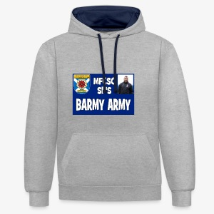 Barmy Army - Contrast Colour Hoodie