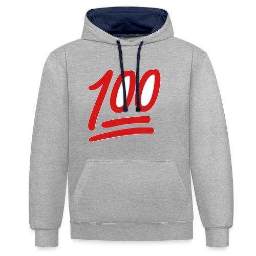 100 - Contrast hoodie