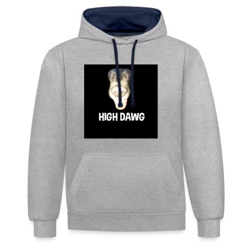 HIGH DAWG - T-Shirt - Kontrast-hettegenser