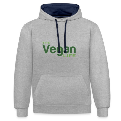 The Vegan Life Logo - Contrast Colour Hoodie