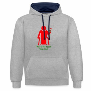 VALENTINE1 - Contrast hoodie