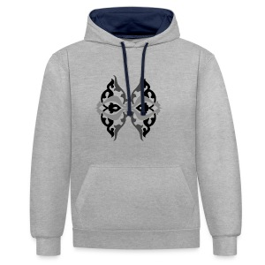 Parvaneh black and white - Contrast Colour Hoodie