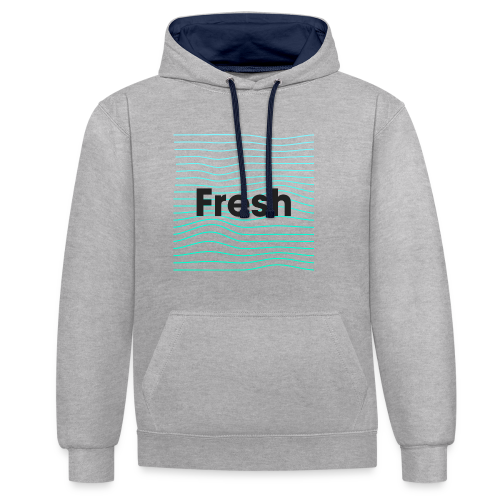 Fresh - noir - Sweat-shirt contraste