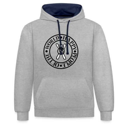 Happy People Circle - Contrast hoodie