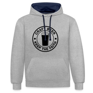 Craft beer, keep the faith! - Contrast Colour Hoodie