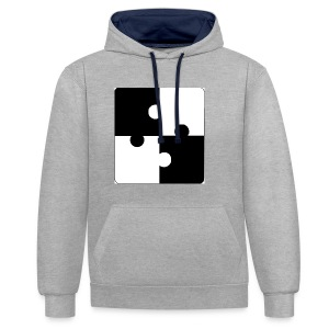jigsaw - Contrast Colour Hoodie