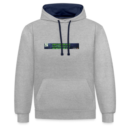 White YouTube Banner Tee - Contrast Colour Hoodie