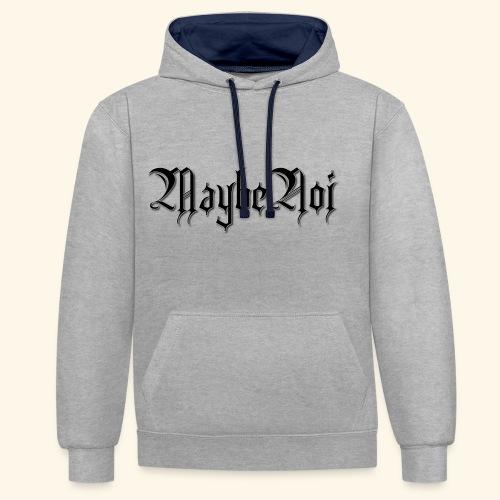 MaybeNoi Design - Kontrast-Hoodie