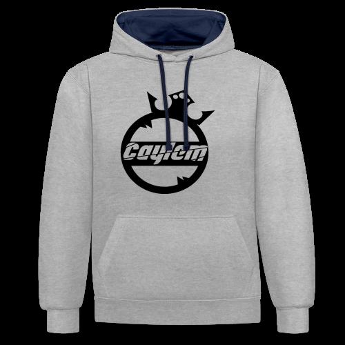 Caylem Logo Schwarz - Kontrast-Hoodie