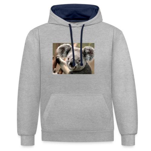 Koala - Kontrast-Hoodie