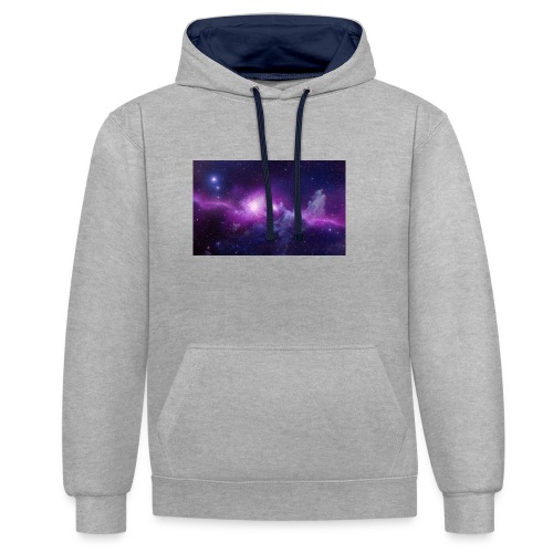 tshirt galaxy - Sweat-shirt contraste