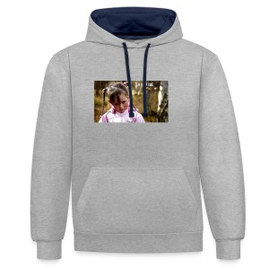 Lille Lise Picture - Contrast Colour Hoodie