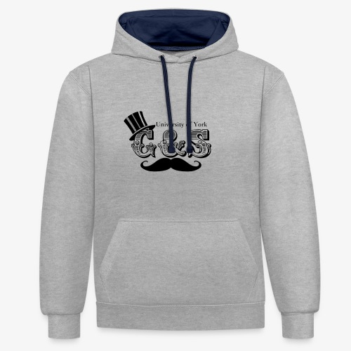 Gilbert and Sullivan Logo - Contrast Colour Hoodie