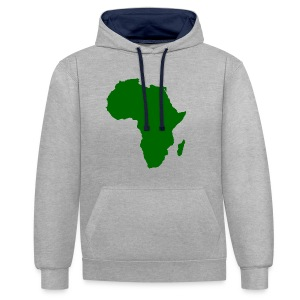 African styles green - Contrast Colour Hoodie