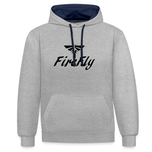 FireFly Logo - Contrast Colour Hoodie