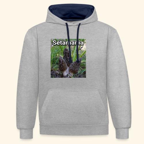 Colmenillas setamania - Sudadera con capucha en contraste