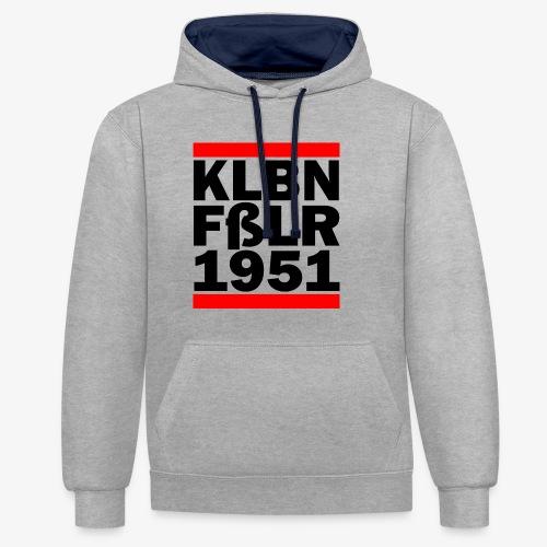 GUEST KLBNFßLER 1951 black - Kontrast-Hoodie