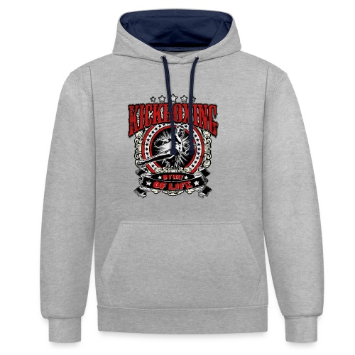 Kickboxing - My Way Of Life - Kontrast-Hoodie