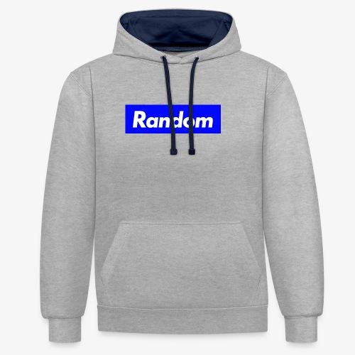 Random - Kontrast-Hoodie