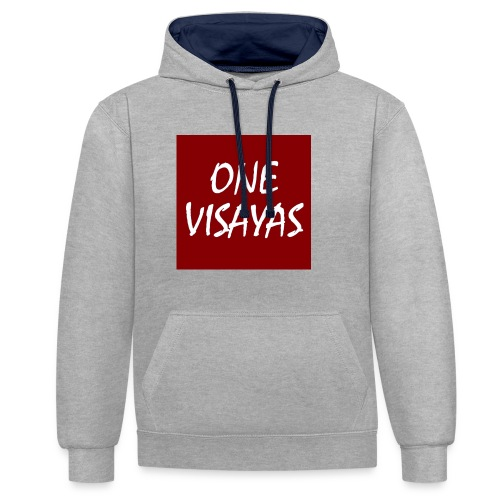 ONEVisayas Logo - Contrast Colour Hoodie