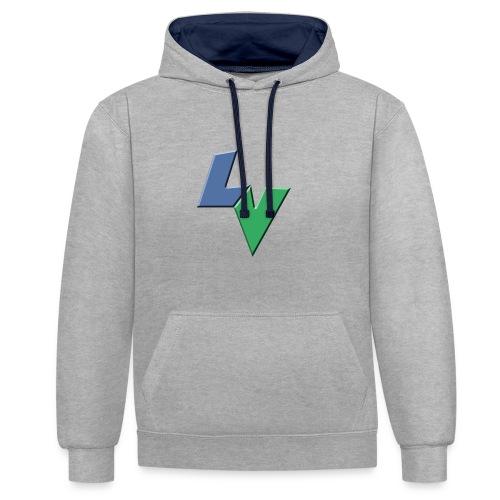LeoVeo LV Logo - Contrast Colour Hoodie
