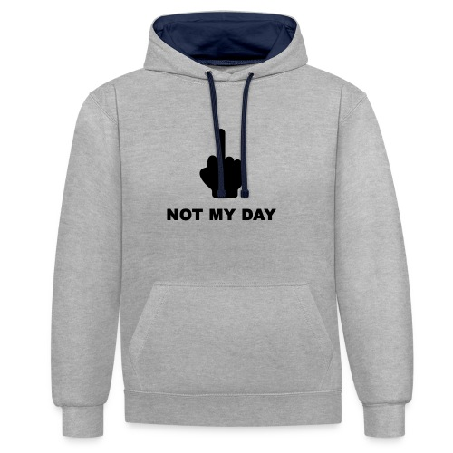 NOTMYDAY - Sweat-shirt contraste
