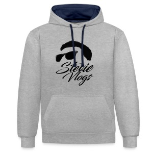 Stevie Vlogs Logo - Contrast Colour Hoodie