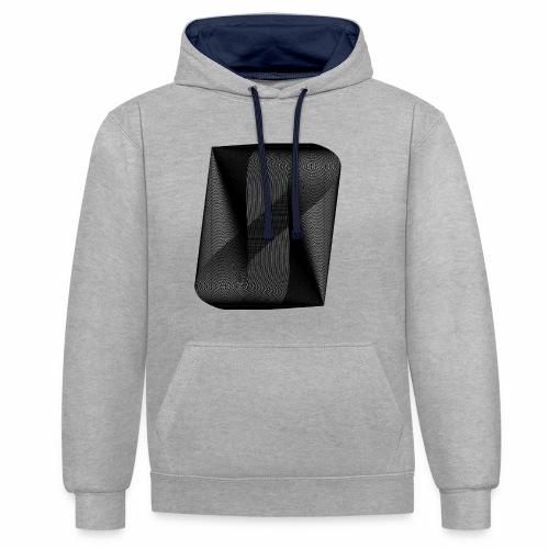 MOIRÉ II [Noir] - Sweat-shirt contraste
