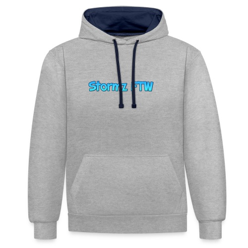 Stormz FTW blue and white fade - Contrast Colour Hoodie