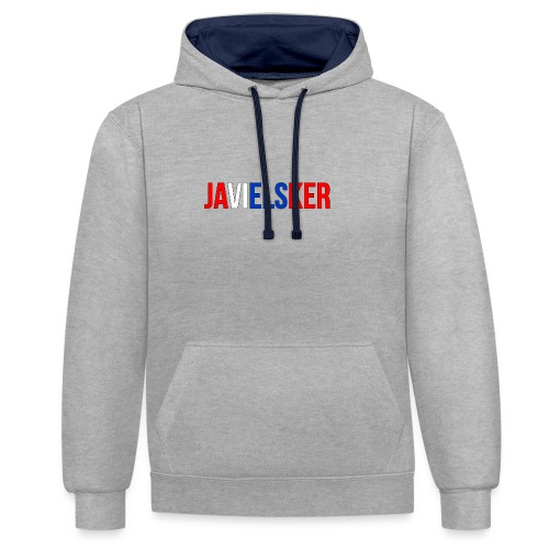 JAVIELSKER - Contrast Colour Hoodie