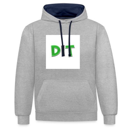 DaarIsTobias shirt korte mouwen - Contrast hoodie