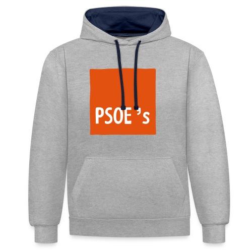 PSOEs - Sudadera con capucha en contraste