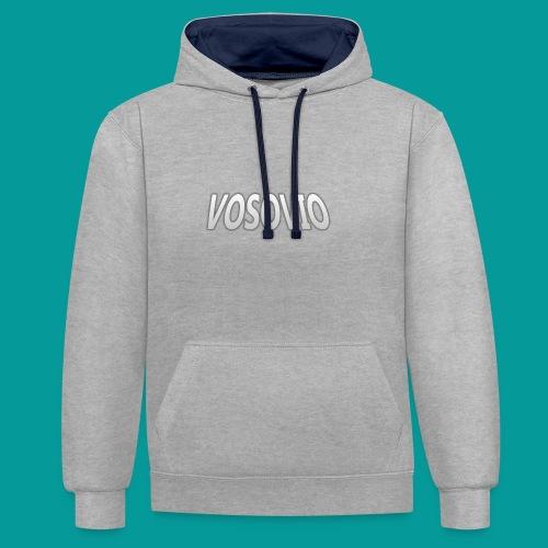 Vosovio Logo - Contrast Colour Hoodie