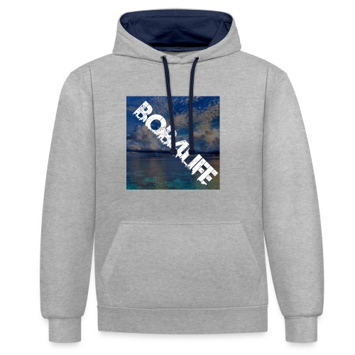 the design is chill. - Contrast Colour Hoodie