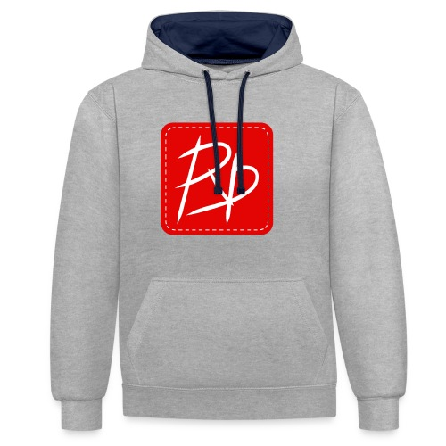 Provoke Designs Red Square - Contrast Colour Hoodie