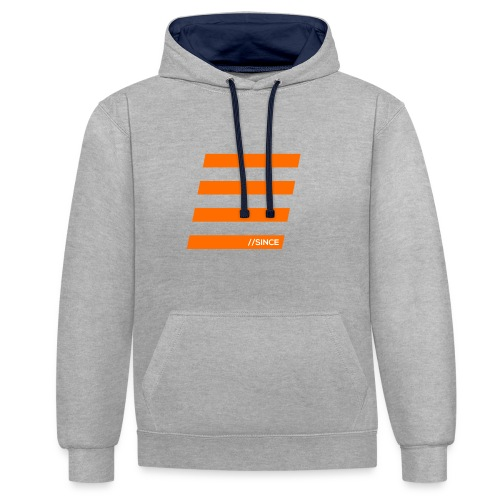 Orange Bars - Kontrast-Hoodie