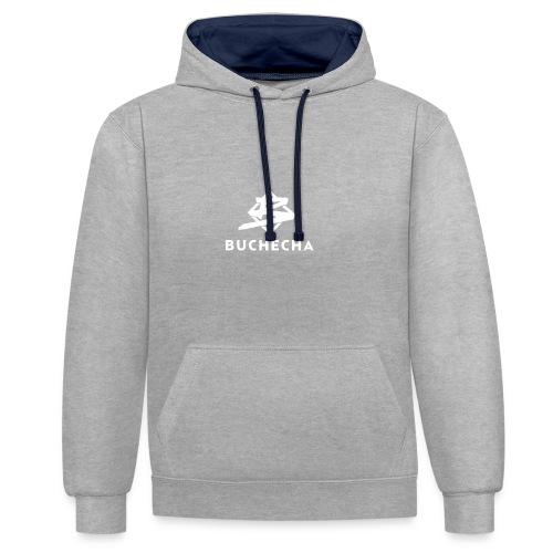Logo White Basic - Sudadera con capucha en contraste