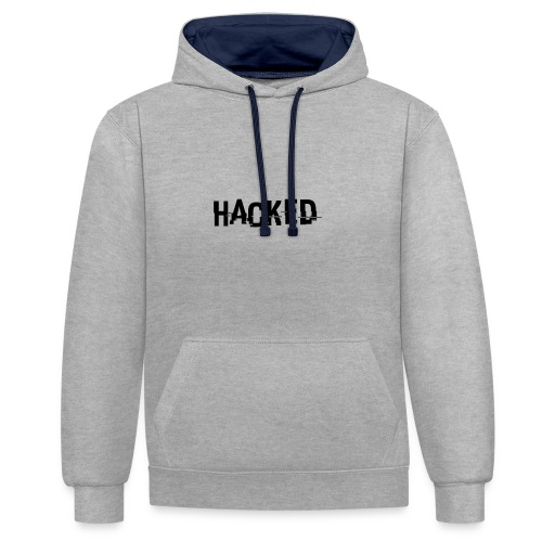 HACKED - Sweat-shirt contraste